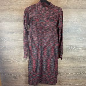 Solutions space dyed midi sweater dress NWT